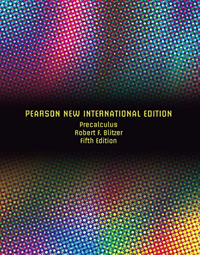 9781292022437: Precalculus Pearson New International Edition