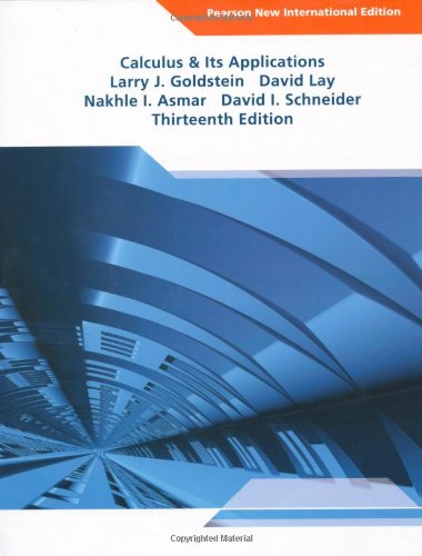 9781292022468: Calculus and Its Applications Pearson New International Edition
