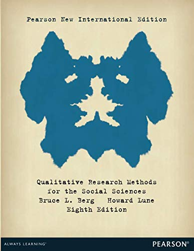 9781292022499: Qualitative Research Methods for the Social Sciences: Pearson New International Edition