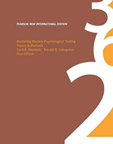 9781292022529: Mastering Modern Psychological Testing: Pearson New International Edition: Theory & Methods