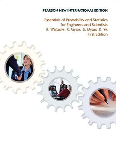 9781292022536: Essentials of Probability & Statistics for Engineers & Scientists