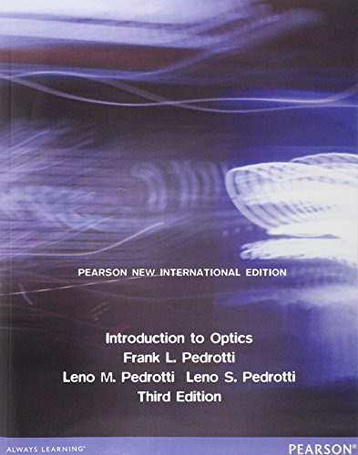9781292022567: Introduction to Optics: Pearson New International Edition