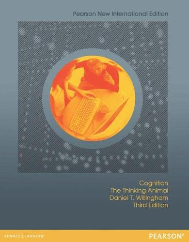 9781292022710: Cognition: The Thinking Animal