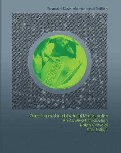 Discrete and Combinatorial Mathematics: An Applied Introduction (Paperback)