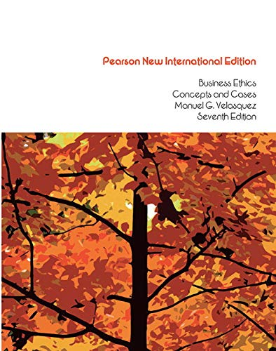 9781292022819: Business Ethics: Pearson New International Edition: Concepts and Cases
