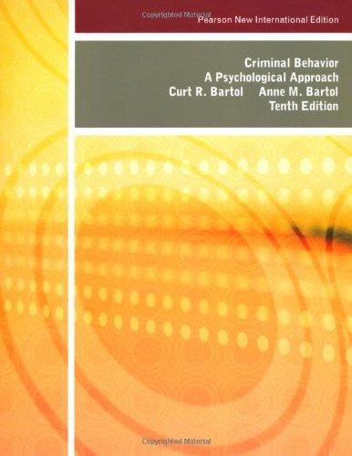 9781292022956: Criminal Behavior: Pearson New International Edition A Psychological Approach