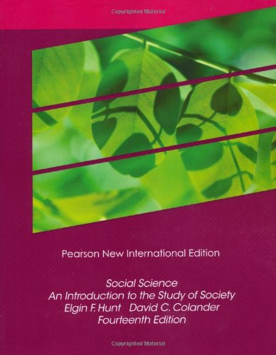 9781292023014: Social Science: An Introduction to the Study of Society