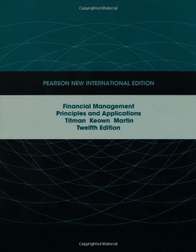 9781292023069: Financial Management: Pearson New International Edition:Principles andApplications