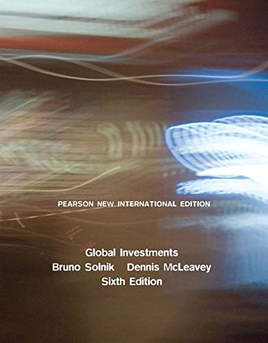 9781292023076: Global Investments: Pearson New International Edition