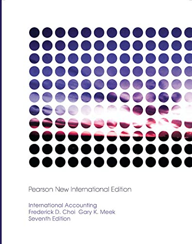 International Accounting: Pearson New International Edition: Choi, Frederick D.