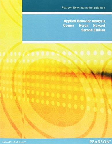 9781292023212: Applied Behavior Analysis: Pearson New International Edition