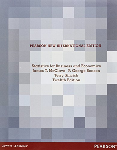 9781292023298: Statistics for Business and Economics Pearson New International Edition