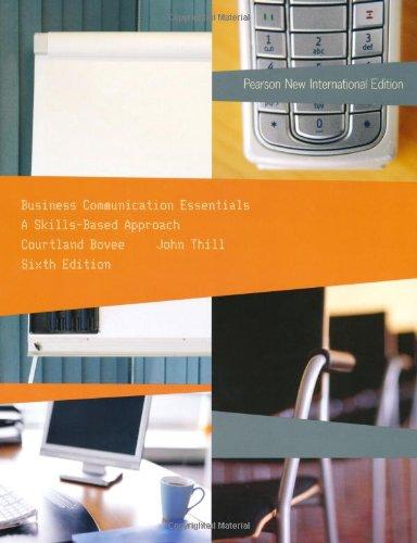 9781292023366: Business Communication Essentials: Pearson New International Edition