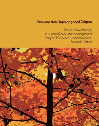 9781292023472: Applied Psychology in Human Resource Management: Pearson New International Edition