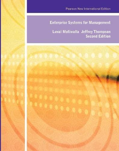 9781292023489: Enterprise Systems for Management