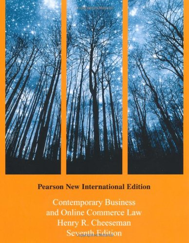 9781292023519: Contemporary Business and Online Commerce Law