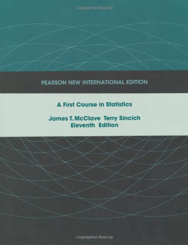 9781292023663: First Course in Statistics, A: Pearson New International Edition