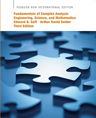 9781292023755: Fundamentals of Complex Analysis with Applications to Engineering, Science, and Mathematics: Pearson New International Edition