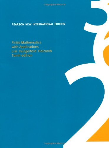 9781292023847: Finite Mathematics with Applications: Pearson New International Edition