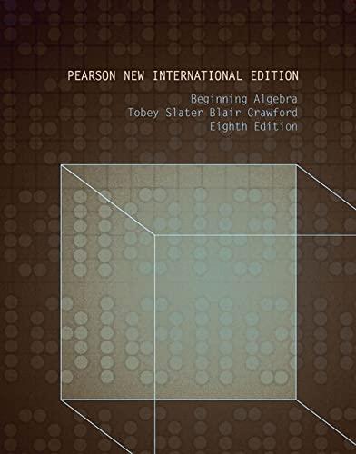 9781292023892: Beginning Algebra: Pearson New International Edition