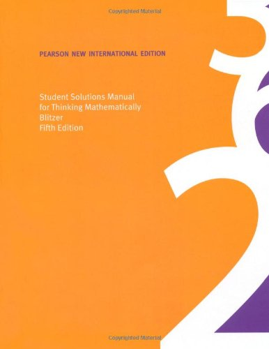 9781292023915: Student Solutions Manual for Thinking Mathematically