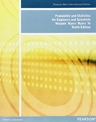 9781292023922: Probability and Statistics for Engineers and Scientists