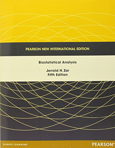 9781292024042: Biostatistical Analysis: Pearson New International Edition