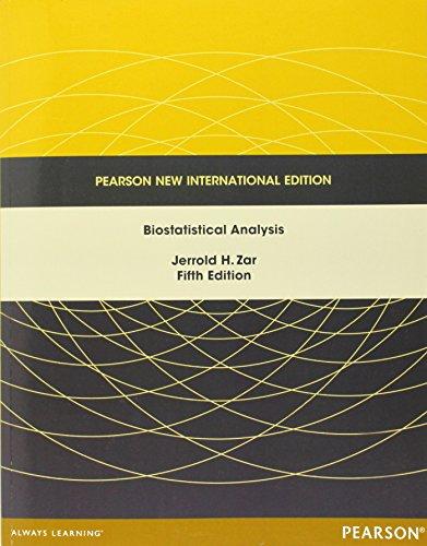 9781292024042: Biostatistical Analysis