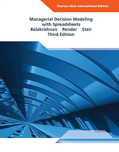 9781292024196: Managerial Decision Modeling with Spreadsheets