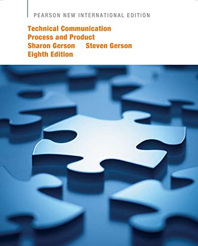 9781292024653: Technical Communication: Process and Product