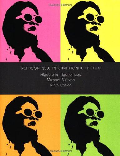 9781292024714: Algebra and Trigonometry: Pearson New International Edition