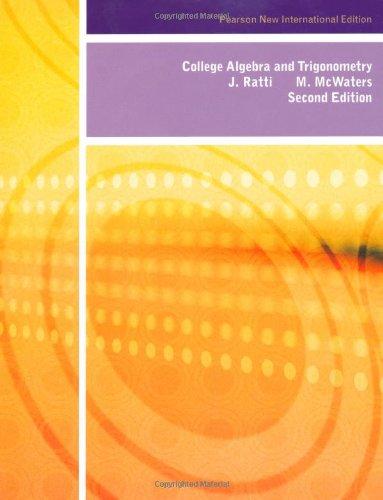 9781292024776: College Algebra and Trigonometry