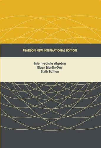 9781292024899: Intermediate Algebra: Pearson New International Edition