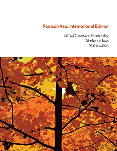 9781292024929: First Course in Probability Pearson New International Edition