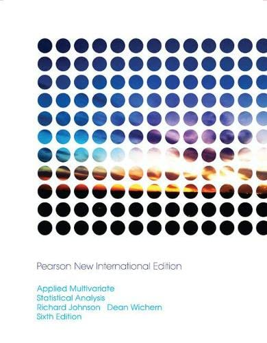 9781292024943: Applied Multivariate Statistical Analysis: Pearson New International Edition
