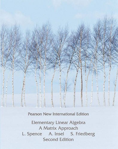 9781292025032: Elementary Linear Algebra: Pearson New International Edition
