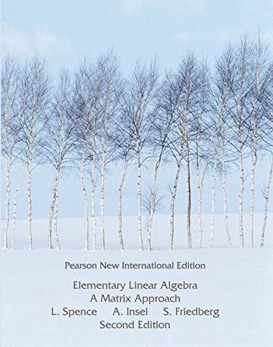 9781292025032: Elementary Linear Algebra