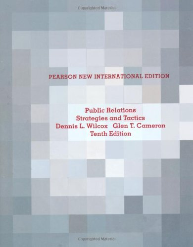 9781292025322: Public Relations: Pearson New International Edition: Strategies and Tactics