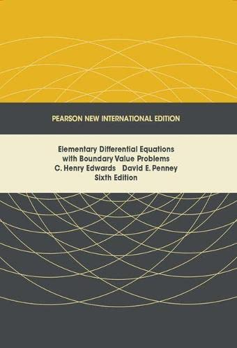 9781292025339: Elementary Differential Equations with Boundary Value Problems: Pearson New International Edition