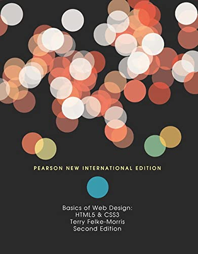 9781292025469: Basics of Web Design: Pearson New International Edition: HTML5 & CSS3