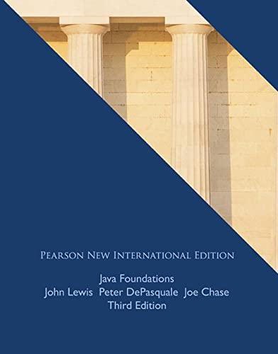 Java Foundations (Paperback): John Lewis, Peter
