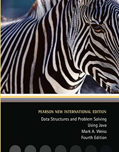 9781292025766: Data Structures and Problem Solving Using Java: Pearson New International Edition