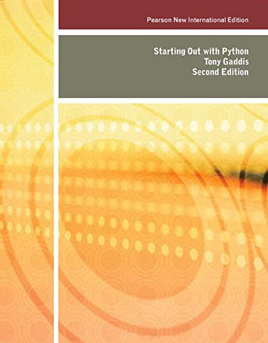 9781292025919: Starting out with Python