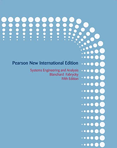9781292025971: Systems Engineering and Analysis: Pearson New International Edition