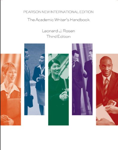 9781292026190: Academic Writer's Handbook: Pearson New International Edition