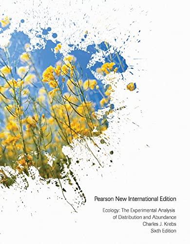 9781292026275: Ecology: The Experimental Analysis of Distribution and Abundance
