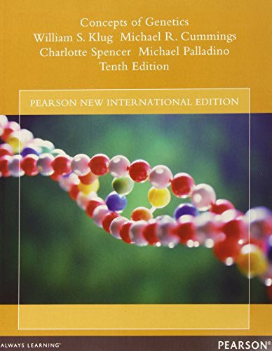 9781292026343: Concepts of Genetics: Pearson New International Edition