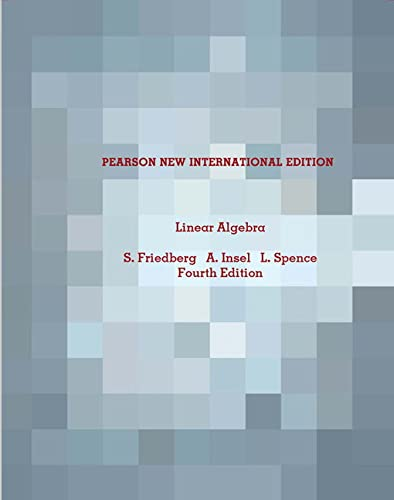 9781292026503: Linear Algebra: Pearson New International Edition