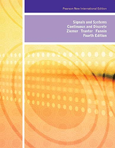 9781292026602: Signals and Systems: Pearson New International Edition: Continuous and Discrete