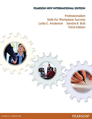 9781292026756: Professionalism: Pearson New International Edition: Skills for Workplace Success